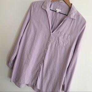 J. Jill   Purple Silk Button Down Top   Size M